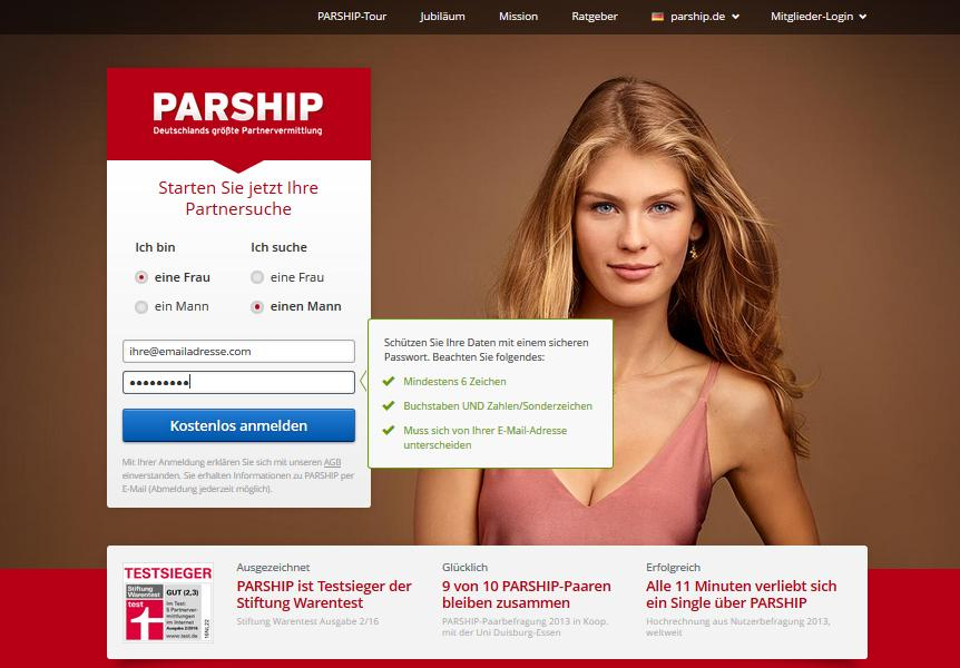 parship login de