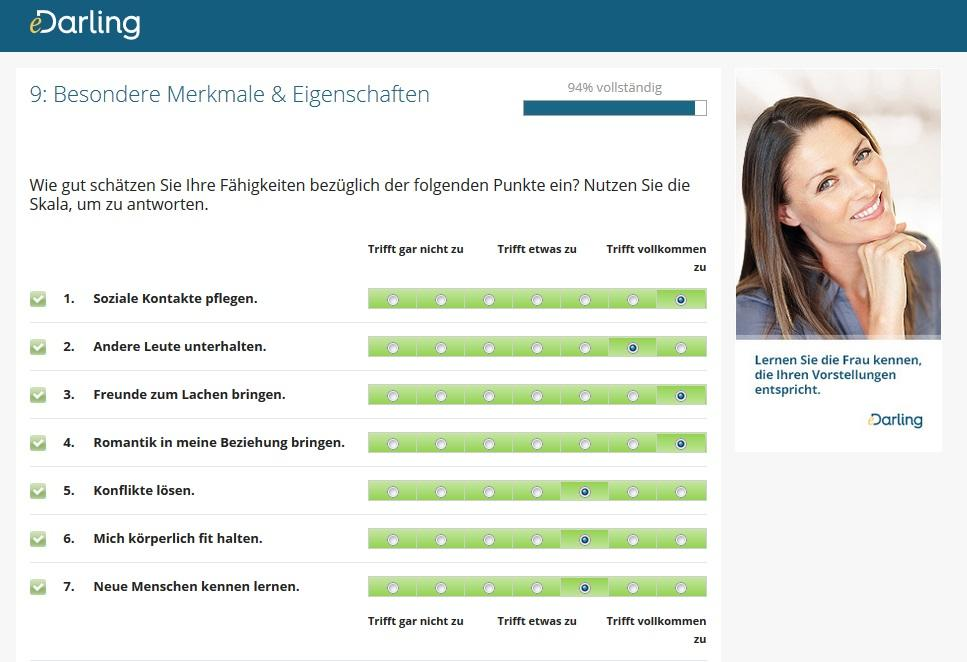 Partnervermittlung Edarling Test